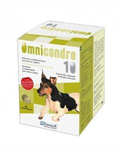 Omnicondro 10 desgaste articular perros -20 kg. y gatos 60 comp.