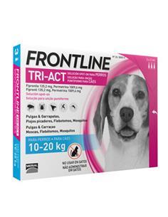 Frontline TriAct antiparasitario perros 10-20 kg. 3 pip.