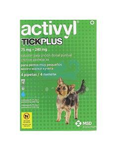 Activyl Plus antipulgas perros muy pequeños 1,2-5 kg. 4 pip.