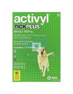 Activyl Plus antipulgas perros grandes 40-60 kg. 4 pip.