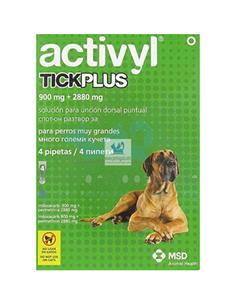 Activyl Plus antipulgas perros muy grandes +60 kg. 4 pip.
