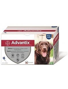 Advantix pipetas antiparasitarias perros +25 kg. 1 pip.