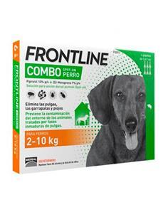 Frontline Combo antiparasitario perros 2-10 kg. 6 pip.