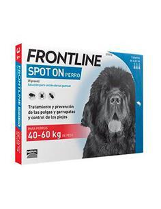 Frontline Combo antiparasitario perros 40-60 kg. 3 pip.
