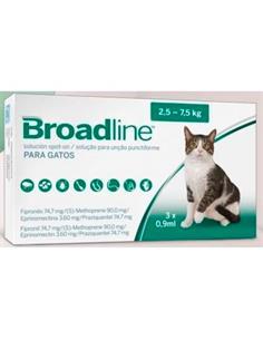 Broadline Antiparasitari Gato 2,5-7,5 kg. 4 pip.
