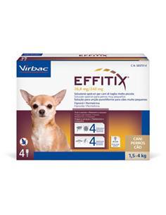 Effitix XS perros 1,5-4 kg. 1 pip.