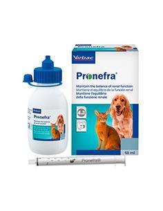 Pronefra suplemento función renal perros y gatos 180 ml.