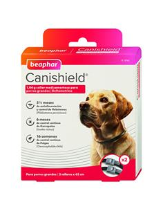 Canishield Collar Antiparasitario Perro grande 65 cm. (pack 2)