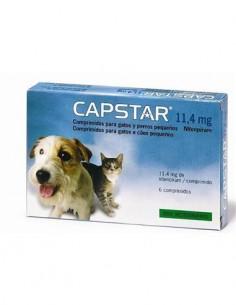 Capstar antiparasitario perros pequeños y gatos 11,4 mg. 6 comp.