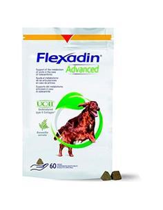 Flexadin Advanced UC II con Boswellia articular perros 60 premios