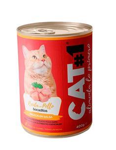 CAT-1 HUMEDO pollo y cereales 400G