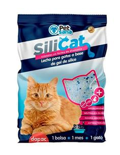 Arena para gato de Sílice Perlitas 3,8 l. Azul