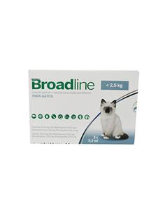 Broadline Antiparasitario Gato -2,5 kg. 3 pip.