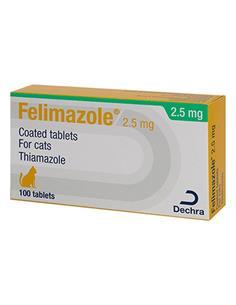 Felimazole gatos 2,5 mg blister 100 cd
