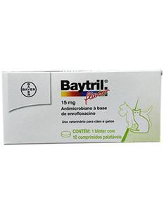 Baytril Antibacteriano 150 mg. 10 comp.