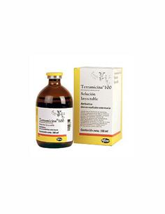 Terramicina Solución Inyectable antibacteriana 100 ml.