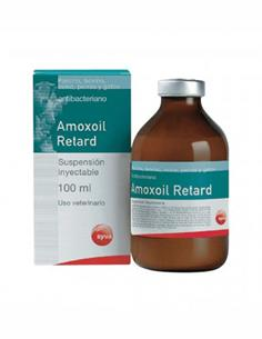 Amoxoil Retard antibacteriano solución inyectable 100 ml.
