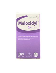 Meloxidyl inyectable antiinflamatorio perro y gato 5 mg. 10 ml.
