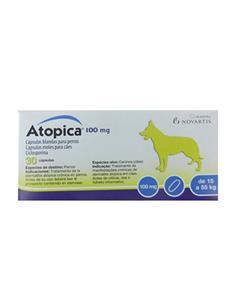 Atopica tratamiento dermatitis atópica perros 100 mg. 30 caps.