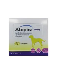 Atopica tratamiento dermatitis atópica perros 50 mg. 60 caps.