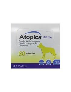 Atopica tratamiento dermatitis atópica perros 100 mg. 60 caps.