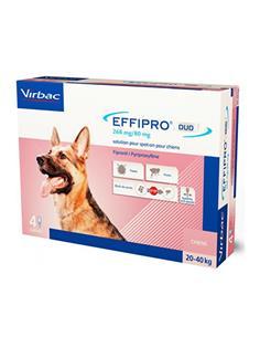 Effipro 268 mg. antiparasitario perro 20-40 4 Pip.