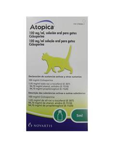 Atopica tratamiento dermatitis atópica gatos 5 ml.