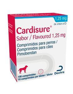 Cardisure insuficiencia cardiaca perros 1,25 mg. 100 comp.