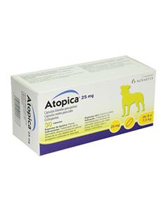 Atopica tratamiento dermatitis atópica perros 25 mg. 30 caps.