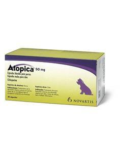 Atopica tratamiento dermatitis atópica perros 50 mg. 30 caps.