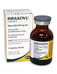 Rimadyl l.A. antiinflamatorio perros inyectable 50 ml.