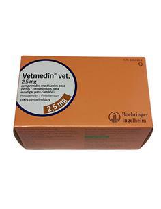 Vetmedin 2,5 mg. Insuficiencia Cardíaca congestiva perros 100 comp.