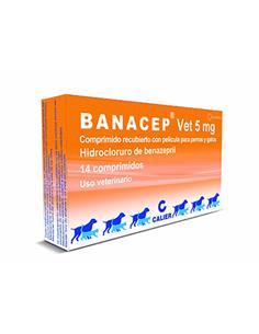 Banacep Insuficiencia cardiaca perro 5 mg. 14 comp.