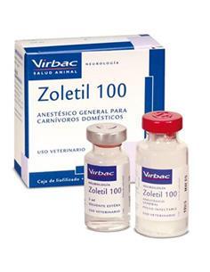 Zoletil 100 Anestésico y Sedante inyectable