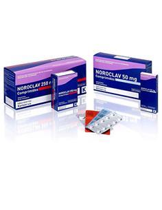 Noroclav antibiótico perro y gato 50 mg.100 comp.